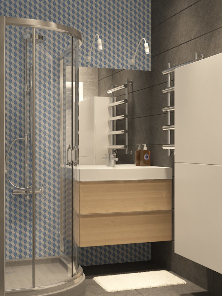 Квартира в Измайлово Modern Bathroom by Anastasia Yakovleva design studio Modern