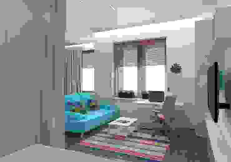 Квартира в Измайлово Modern Living Room by Anastasia Yakovleva design studio Modern