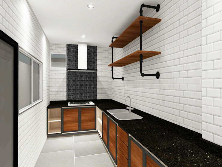 Kitchen 3D Design #11:  ห้องครัว by SIAMTAK CO., LTD.