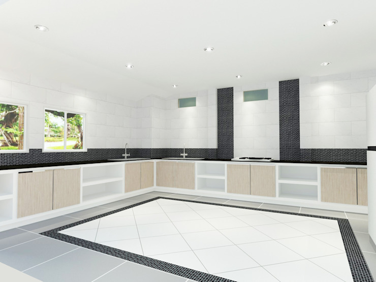 Kitchen 3D Design #12:  ห้องครัว by SIAMTAK CO., LTD.