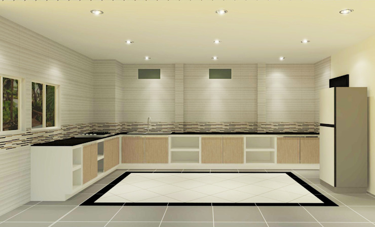 Kitchen 3D Design #17:  ห้องครัว by SIAMTAK CO., LTD.