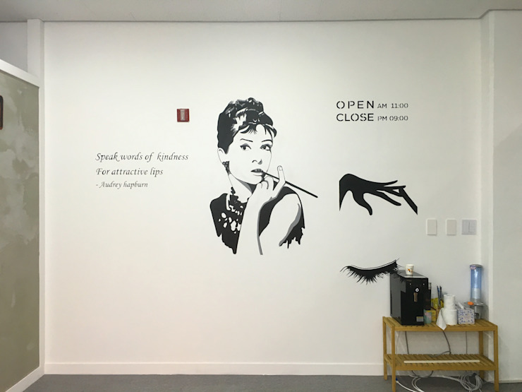 Nail shop 네일아트 벽화 by 트랜디아트 모던