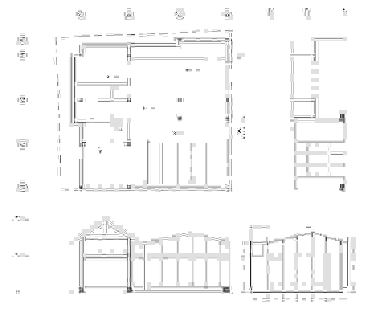 DRAWING 모던스타일 거실 by 쿠나도시건축연구소 모던