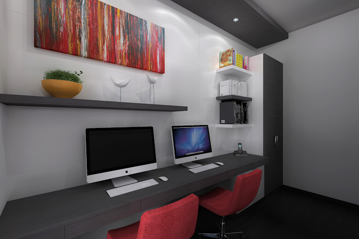 Ruang Studi/Kantor Minimalis Oleh homify Minimalis Kayu Buatan Transparent