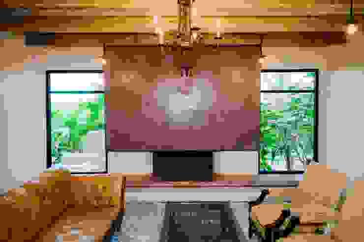 Salas / recibidores de estilo  por HA Arquitectos