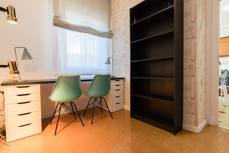 eM diseño de interiores Modern Study Room and Home Office