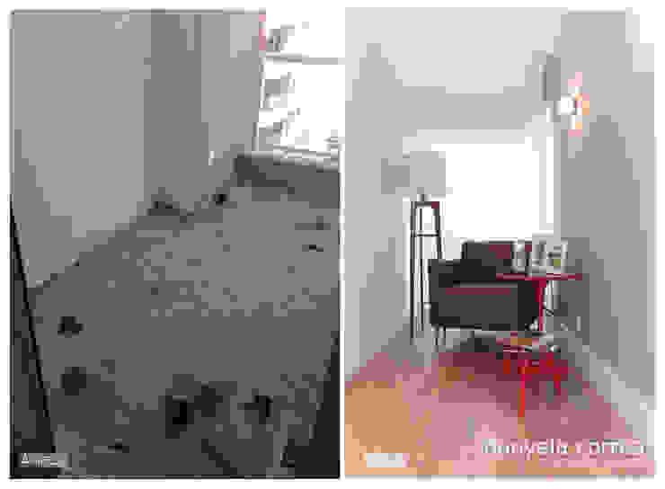 Antes e Depois - Cantinho para Leitura Danyela Corrêa Arquitetura Closets