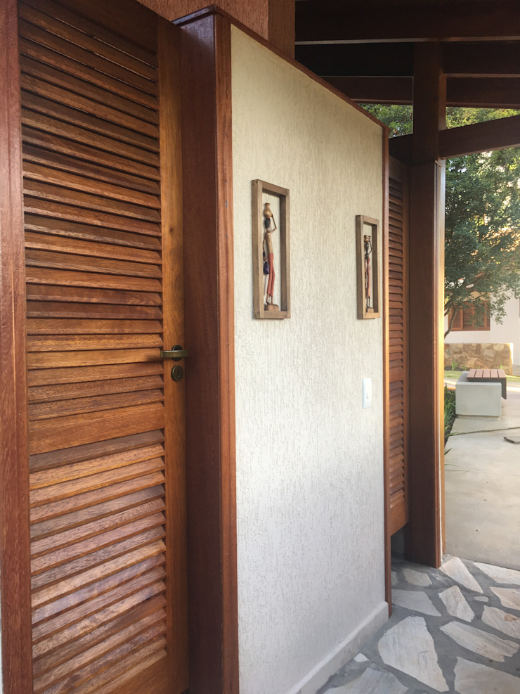 Rustic style bathroom by Arkete Arquitetura e Sustentabilidade Rustic Stone