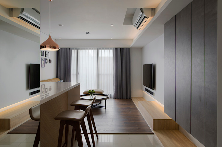 來我家吧! 現代風玄關、走廊與階梯 根據 釩星空間設計 現代風