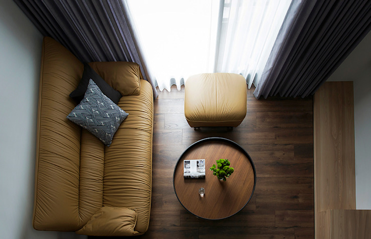 來我家吧! 现代客厅設計點子、靈感 & 圖片 根據 釩星空間設計 現代風