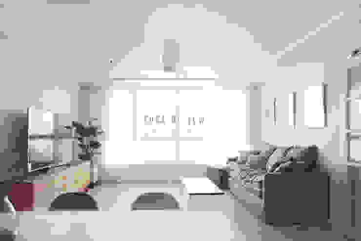 거실 컨트리스타일 거실 by 로하디자인 컨트리