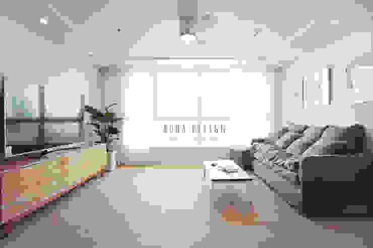 컨트리 빈티지의 32평 신혼집 인테리어 컨트리스타일 거실 by 로하디자인 컨트리
