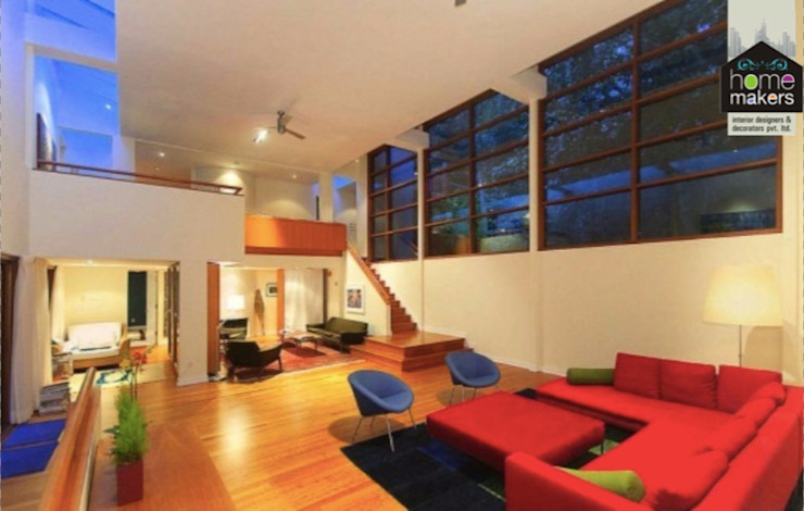 Huge Warm Bungalow Modern living room by homify Modern