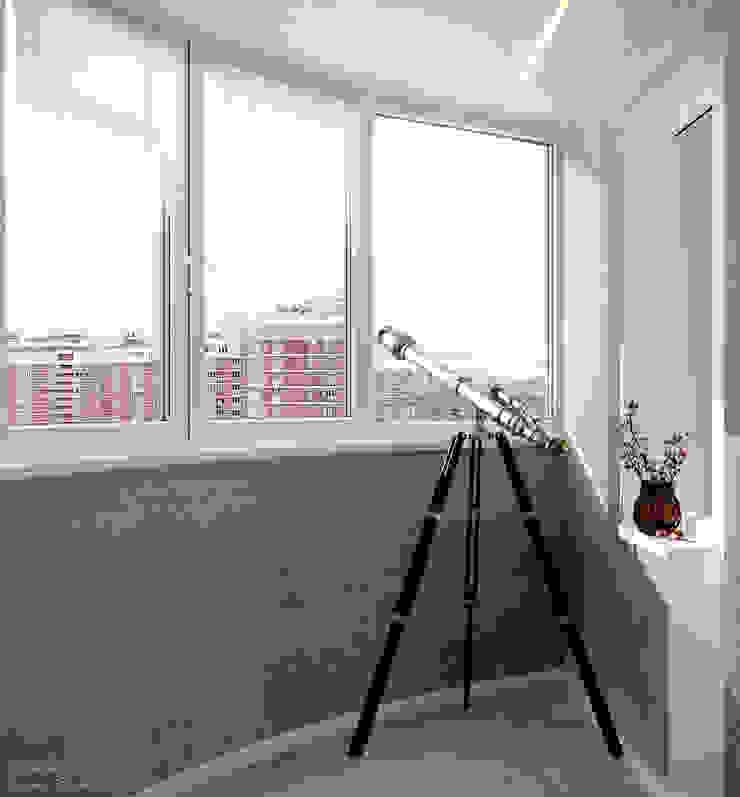 Balkon, Beranda & Teras Gaya Industrial Oleh Студия интерьерного дизайна happy.design Industrial