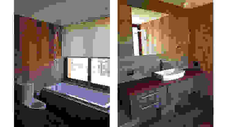 Penthouse Vitacura Baños de estilo moderno de NEF Arq. Moderno