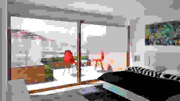 Penthouse Vitacura Dormitorios de estilo moderno de NEF Arq. Moderno