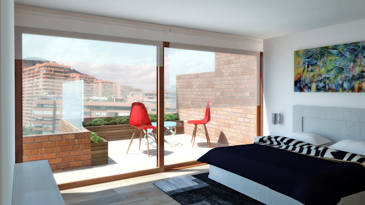 Modern style bedroom by NEF Arq. Modern