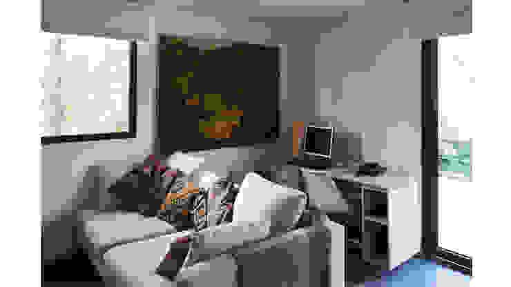 CASA CU Livings de estilo moderno de NEF Arq. Moderno