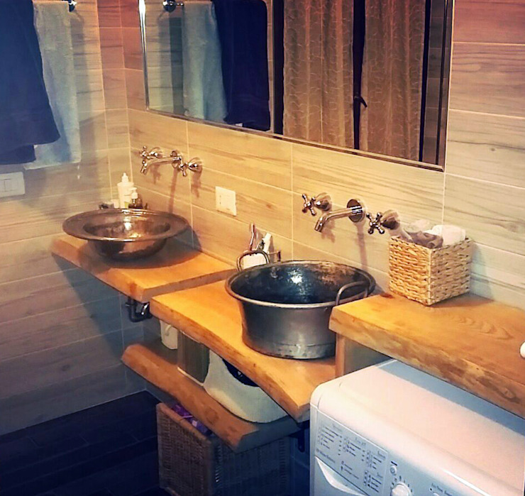 Dilegno InLegno Eclectic style bathroom Wood Wood effect