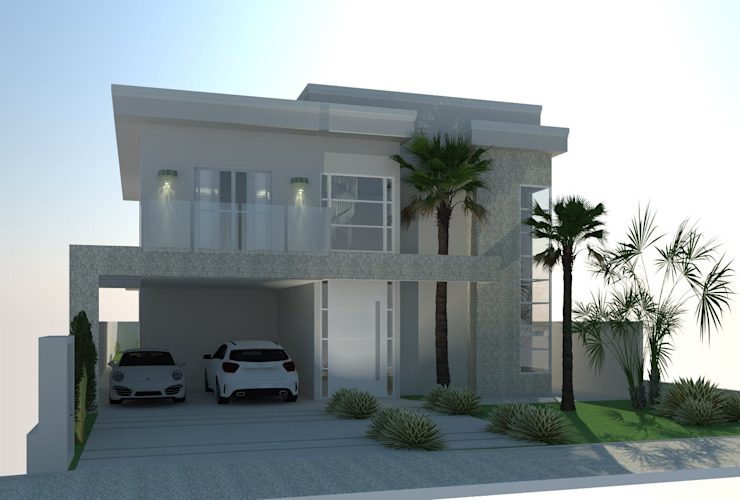 RESIDENCIA 01 AJR ARQUITETURA Casas modernas