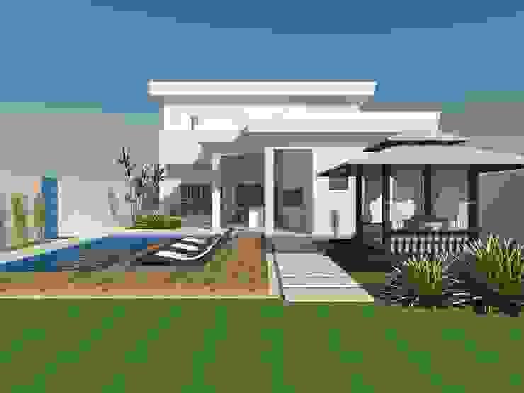RESIDENCIA 01 - RESERVA SANTA MARIA Casas modernas por AJR ARQUITETURA Moderno