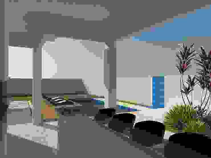 RESIDENCIA 01 – RESERVA SANTA MARIA Casas modernas por AJR ARQUITETURA Moderno