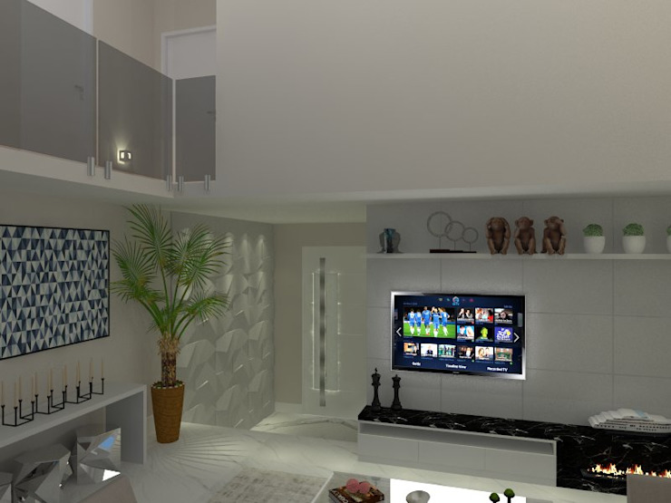 RESIDENCIA 03 - GENESIS II AJR ARQUITETURA Salas de estar modernas