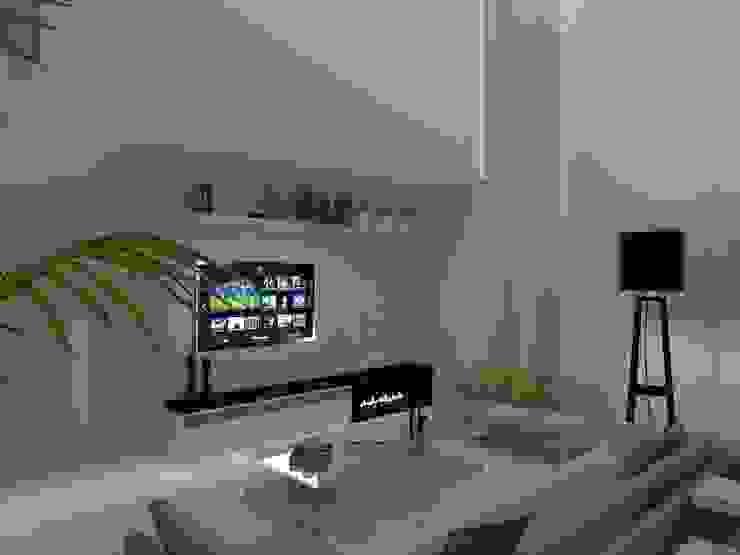 RESIDENCIA 03 – GENESIS II AJR ARQUITETURA Salas de estar modernas