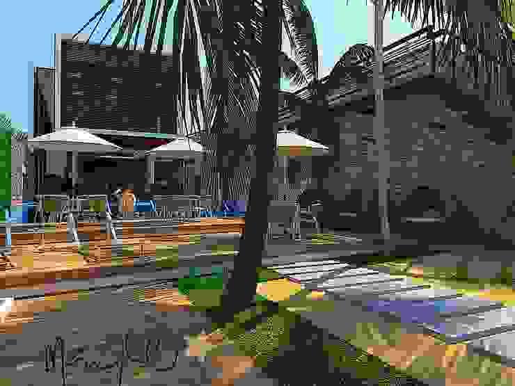 Makao Beach Hostel de Alta Gama Arquitectos Tropical Derivados de madera Transparente