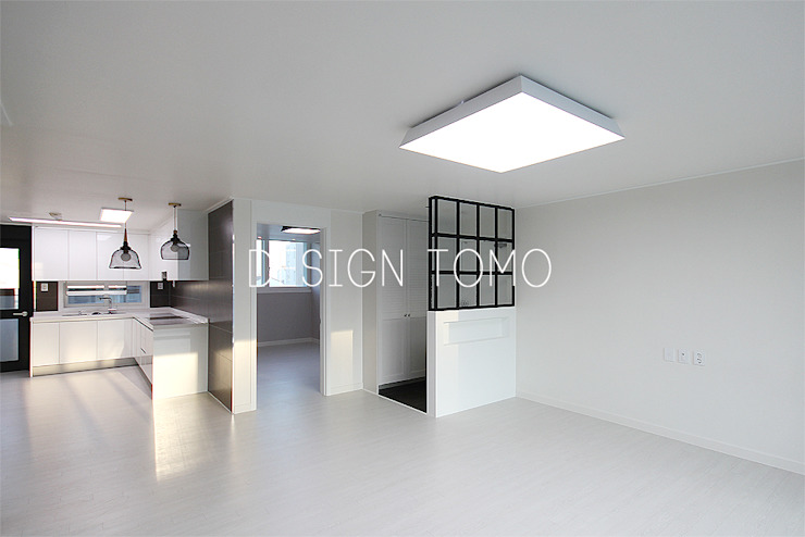 등촌아이파크(30평대) 모던스타일 거실 by 디자인토모 모던