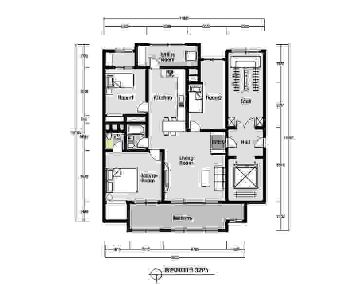 Salones modernos de 디자인토모 Moderno