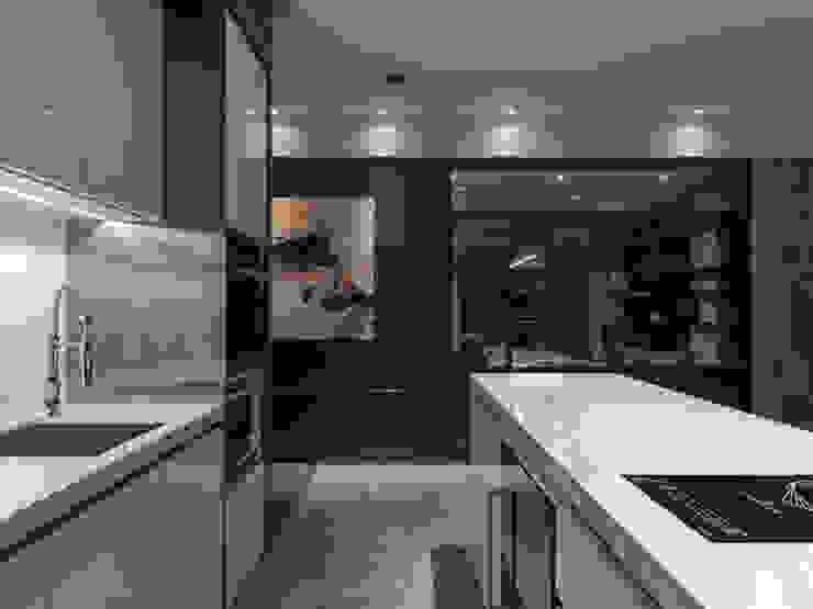 絢染.縱觀 現代廚房設計點子、靈感&圖片 根據 拾葉 建築室內設計 現代風