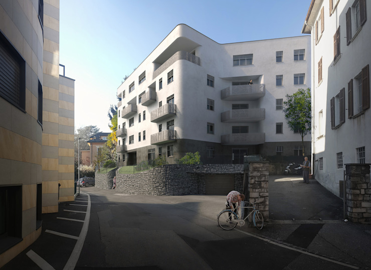 Residenza Green Building Case moderne di arlan.ch atelier d'architettura Moderno
