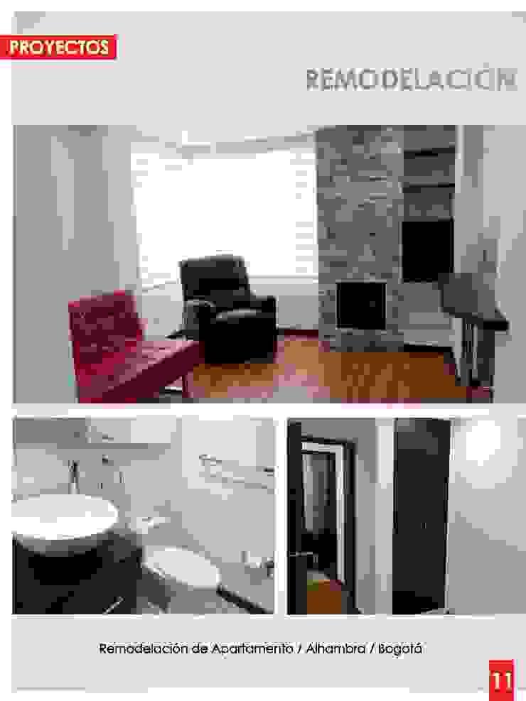Remodelación de Apartamento / Alhambra / Bogotá Salas multimedia de estilo moderno de Artika arquitectura y diseño S.A.S Moderno