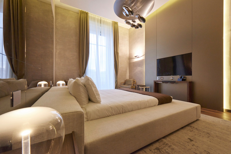 Modern Bedroom by FDR architetti -francesco e danilo reale Modern Wood Wood effect