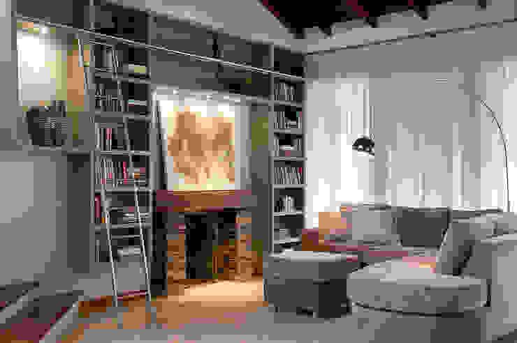 Estar Lareira Salas de estar modernas por Ana Maria Dickow Arquitetura & Interiores Moderno MDF