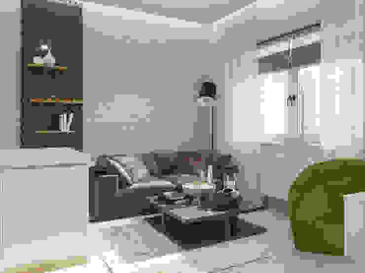 Minimalist living room by ДОМ СОЛНЦА Minimalist