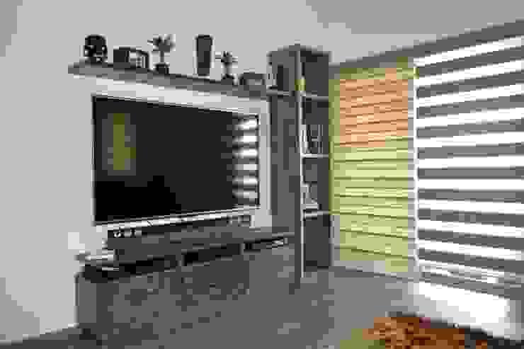 Sala de tv Salas de entretenimiento de estilo moderno de ANTARA DISEÑO Y CONSTRUCCIÓN SA DE CV Moderno Madera Acabado en madera