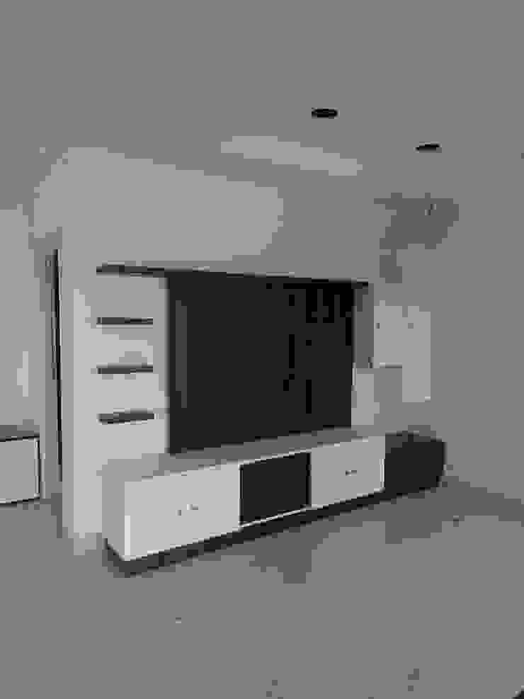 TV unit: minimalist  by BYOD Dezigns,Minimalist Plywood