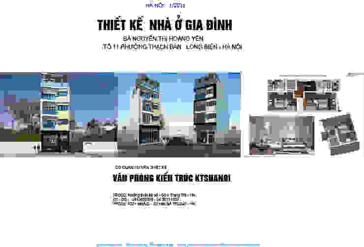 Thiết kế biệt thự đẹp 6,5x16m 5 tầng phong cách hiện đại bởi Văn phòng kiến trúc Ktshanoi