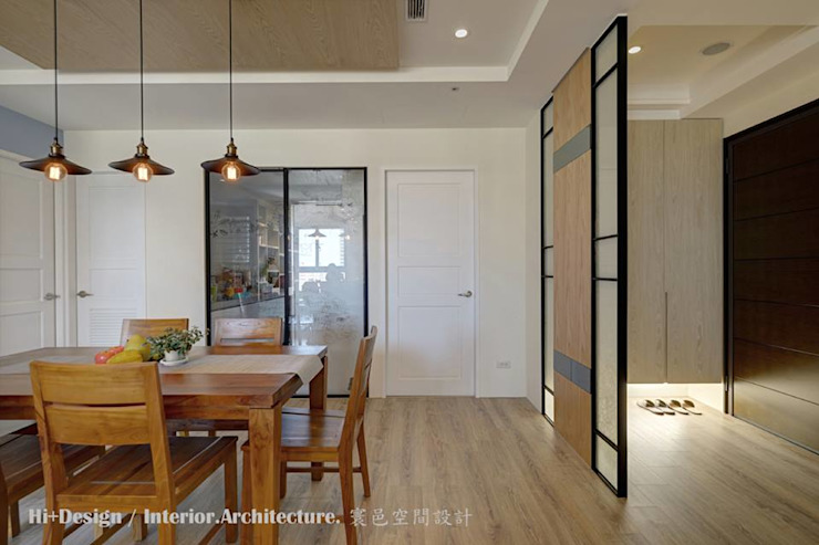 餐廳與玄關 根據 Hi+Design/Interior.Architecture. 寰邑空間設計 現代風