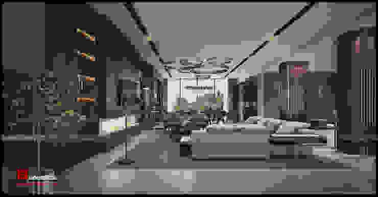 Salas de estar  por Công ty CP Kiến trúc và Đầu tư Xây dựng Hà Nội A&More , Moderno