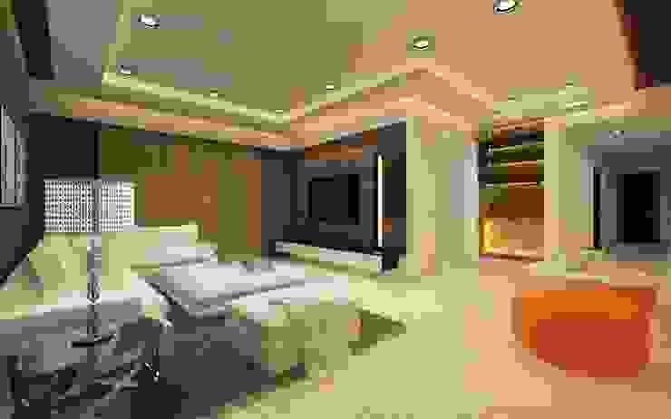 Moderne Wohnzimmer von A Design Studio Modern Glas