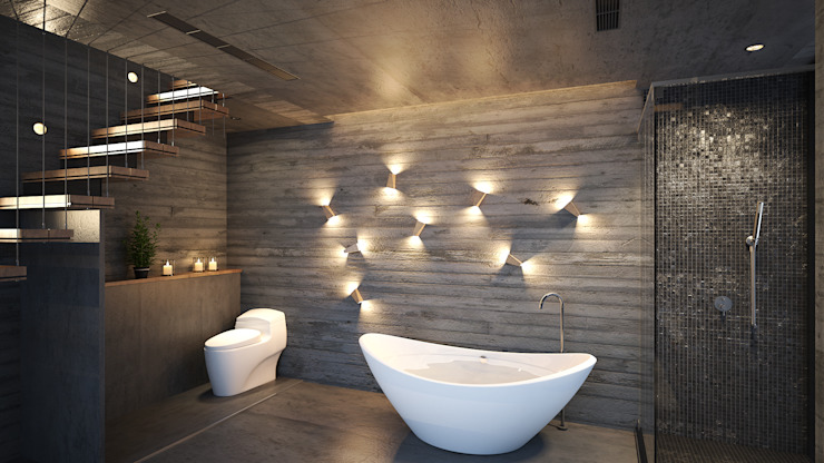 Bathroom by 禾御建築室內設計有限公司, Tropical