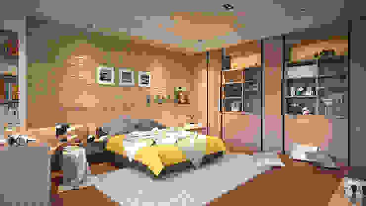 微暖臥房 Modern style bedroom by 禾御建築室內設計有限公司 Modern
