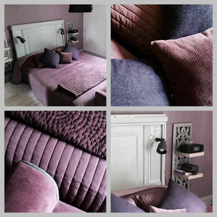 Premières Perspectives Rustikale Schlafzimmer Lila/Violett