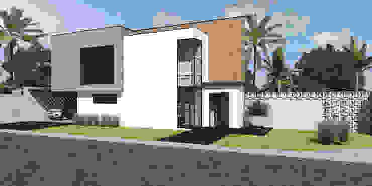 Fachada Principal Laboratório Treze Arquitetura + Design Casas modernas