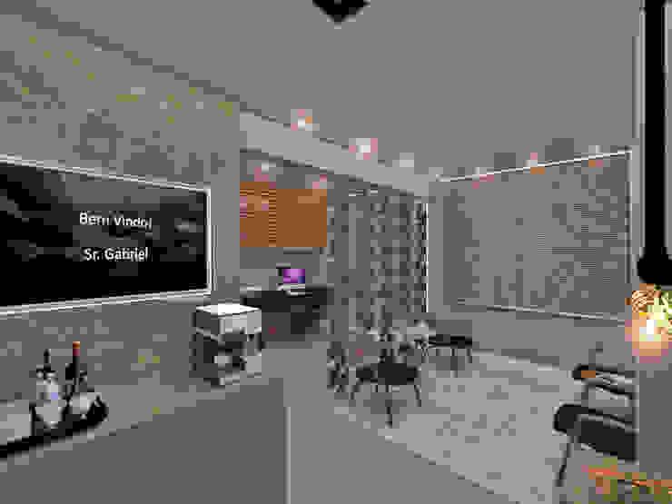 Studio Diego Duracenski Interiores Modern Living Room Marble Grey