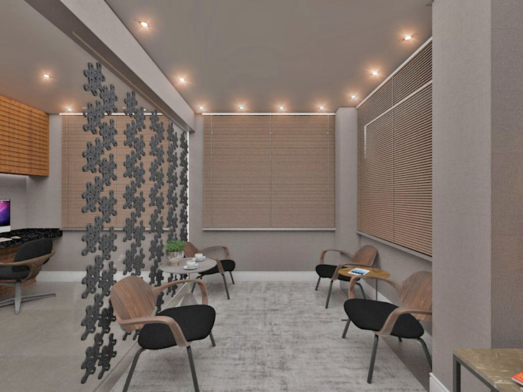 Studio Diego Duracenski Interiores Modern Living Room Solid Wood Grey
