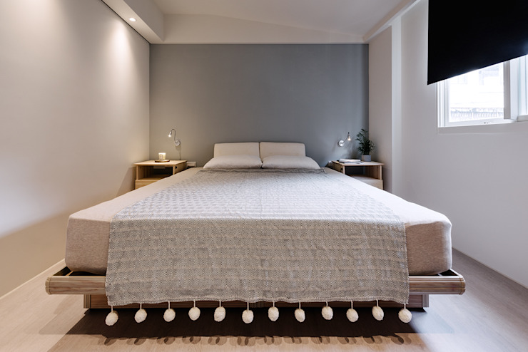 Dormitorios de estilo ecléctico de 隹設計 ZHUI Design Studio Ecléctico